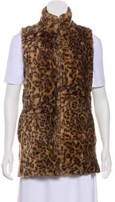 Alice + Olivia Printed Faux Fur Vest