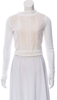 Oscar de la Renta Crocheted Cropped Top w/ Tags White Crocheted Cropped Top w/ Tags