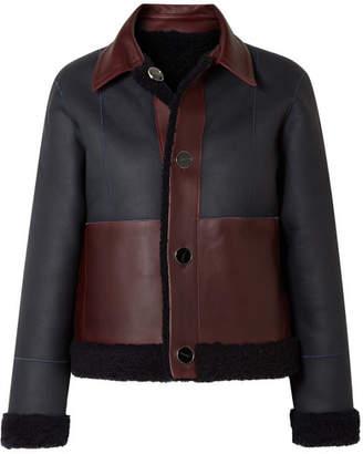 Victoria Beckham Victoria, Reversible Shearling Jacket - Midnight blue