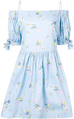VIVETTA off shoulder floral print dress