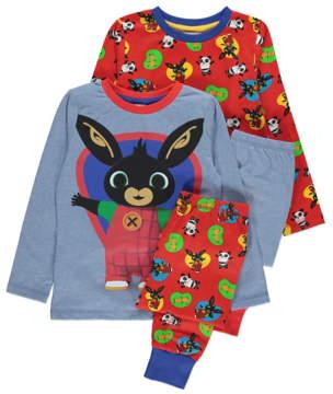 Bing George Long Sleeve Pyjamas 2 Pack