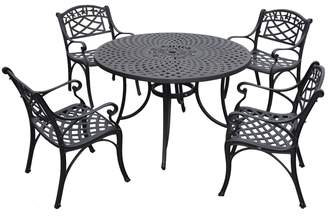 "Sedona 46"" 5-Piece Cast Aluminum Outdoor Dining Set"