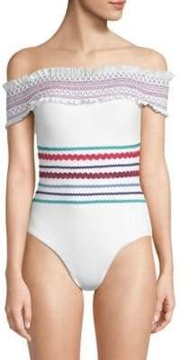 One-Piece Smocked Swimsuit