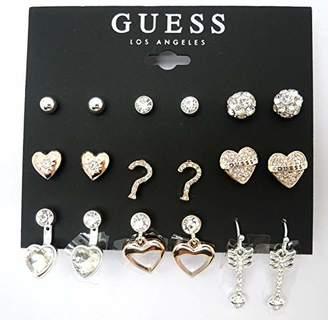 GUESS Women's 9 On Multi Earrings Set