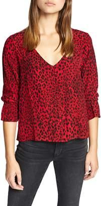 Sanctuary Farrah Leopard Print Blouse