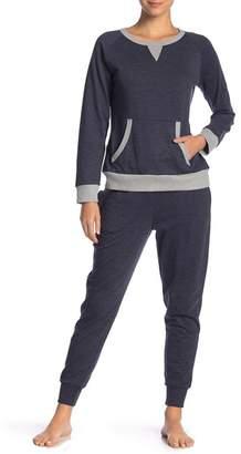 Couture PJ Heather Indigo Long Sleeve Sweatshirt & Sweatpants Set
