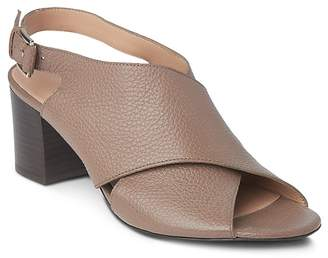 Whistles Alexis Leather Slingback Block Heel Sandals