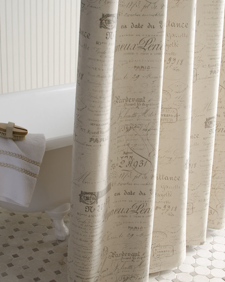 """Horchow French Laundry Home """"French Script"""" Shower Curtain"""