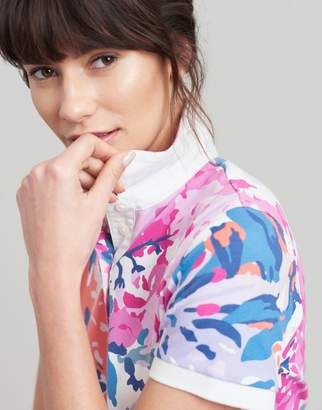 Joules CREAM FLORAL Pippa Printed Polo Shirt Size 10