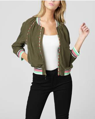 Juicy Couture WASHED SILK TRACK JACKET