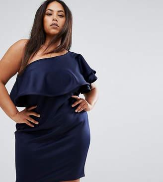 Club L Plus One Shoulder Scuba Mini Dress