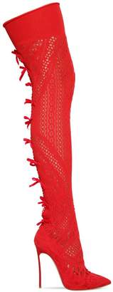 Casadei 120mm Stretch Knit Over The Knee Boots