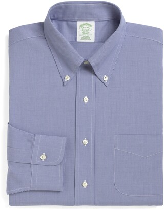 Brooks Brothers Milano Slim Fit Houndstooth Dress Shirt