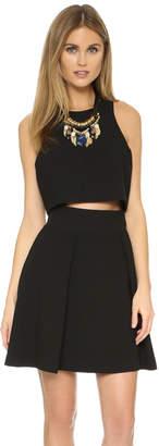 Black Halo Sanibel 2 Piece Mini Dress $325 thestylecure.com