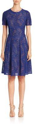 BCBGMAXAZRIABCBGMAXAZRIA Short Sleeve Jewelneck Lace Dress