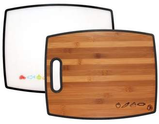 Totally Bamboo Poly-Boo Reversible Bamboo and Poly Cutting Board
