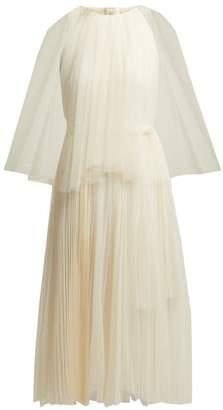 Maria Lucia Hohan Pleated Tulle Cape Dress - Womens - White