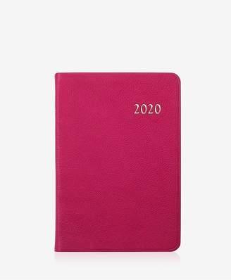 GiGi New York 2020 Daily Journal In Pink Goatskin Leather