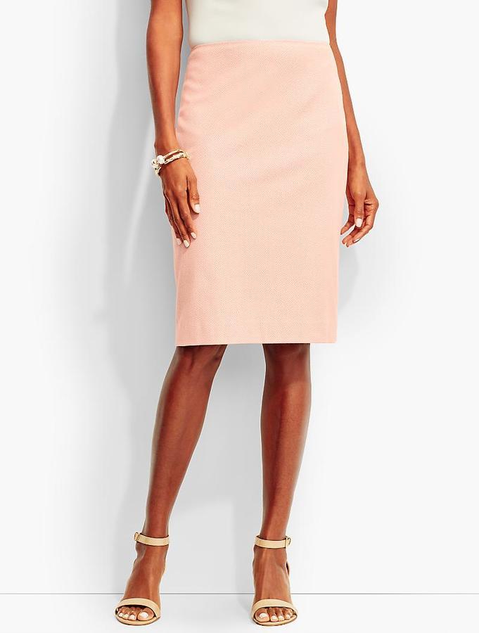 Dartmouth Herringbone Pencil Skirt