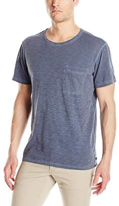 Michael Stars Men's Oil Wash Short Sleeve Crew Neck Pocket T-Shirt