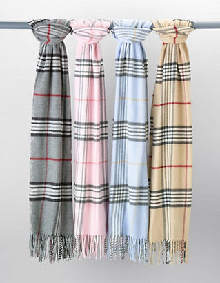Lord & Taylor Plaid Fringe Scarf $58 thestylecure.com