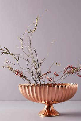 Anthropologie Copper Pedestal Vase