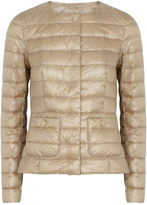 Herno Champagne Quilted Shell Jacket