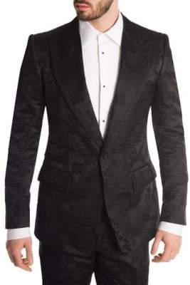 Dolce & Gabbana Single-Breasted Jacquard Blazer