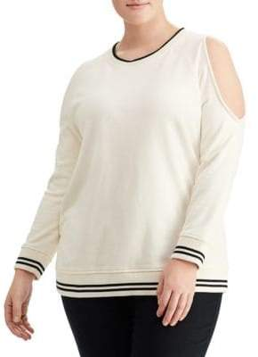 Lauren Ralph Lauren Plus Cutout-Shoulder Sweatshirt