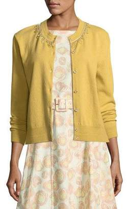 Marc Jacobs Beaded Wool-Cashmere Cardigan