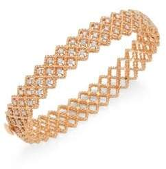 Roberto Coin Barocco Diamond& 18K Rose Gold Bangle