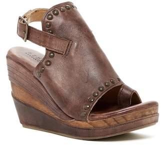 Bed Stu Bed|Stu Joann Leather Platform Wedge Sandal