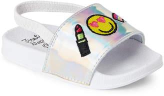 First Steps (Toddler Girls) Silver Emoji Slingback Sandals