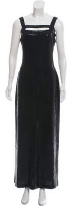 St. John Sequin Evening Gown