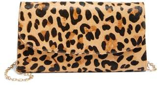 Nordstrom Genuine Calf Hair Leopard Print Clutch
