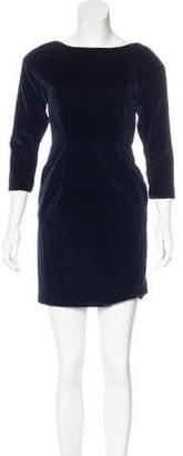 Steven Alan Velvet Mini Dress