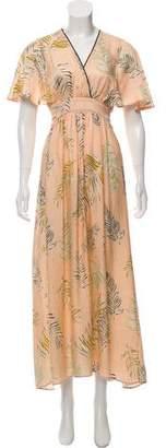 Giada Forte Silk Printed Maxi Dress w/ Tags