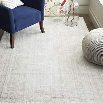 west elm Hand-Loomed Shine Rug - Gray
