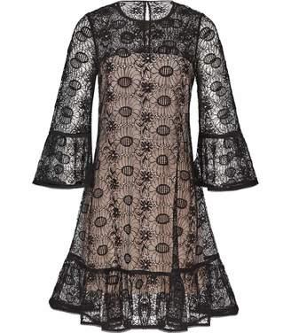 Reiss Jade - Lace Shift Dress in Black/nude
