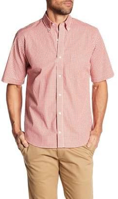 Tailorbyrd Short Sleeve Plaid Print Regular Fit Shirt