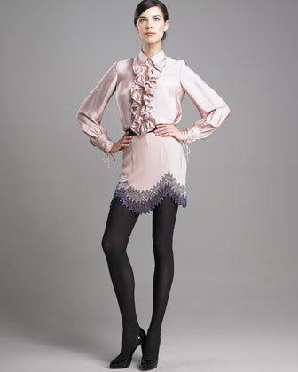 3.1 Phillip Lim Beaded Flapper Mini Skirt