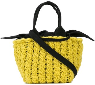 Muun removable lining knitted tote bag