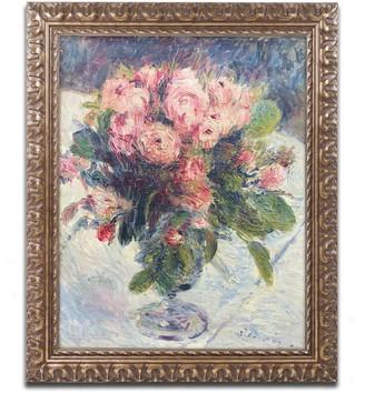 Trademark Fine Art Moss-Roses 1890 Ornate Framed Wall Art