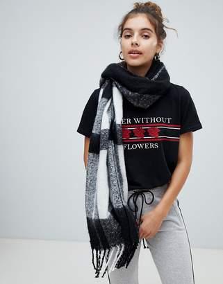 Bershka Checkerboard scarf