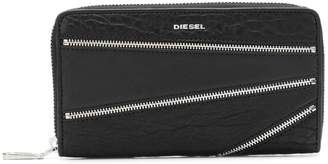 Diesel zip-embellished wallet