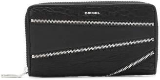 Diesel zip-embellished wallet
