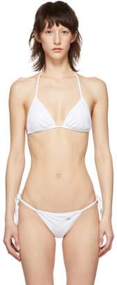 Dolce & Gabbana White Triangle Bikini Top