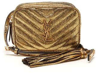 Saint Laurent Lou Chevron Quilted Leather Belt Bag - Womens - Gold