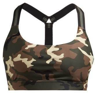 The Upside Alex Camouflage Print Sports Bra - Womens - Green Multi