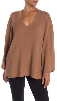 BCBGMAXAZRIA Masha Oversized V-Neck Wool Blend Sweater